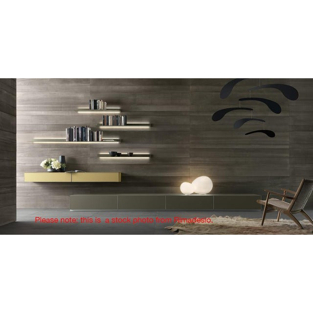Rimadesio Abacus Wall Unit Shelves Drawers - Four Lighted Shelves And Three Touch Latch Drawers For Sale - Image 10 of 10