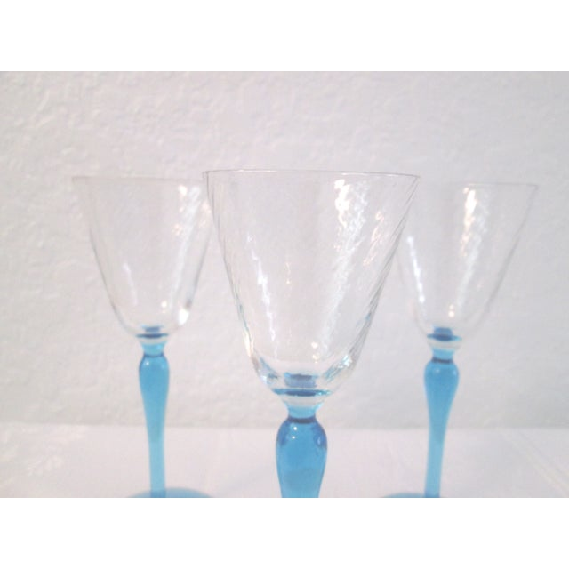 Sea Blue Stemmed Port Wine Glasses - Set of 4 - Image 5 of 5