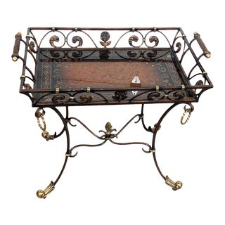 Empire Style Tray Top Coffee Table For Sale