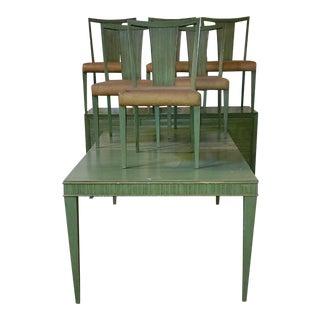 1950s Modernism Paul Frankl for Brown Saltman Dining Set For Sale