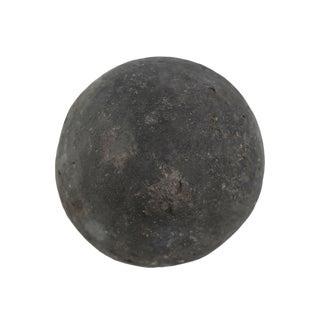 Black Stone Garden Sphere Small For Sale