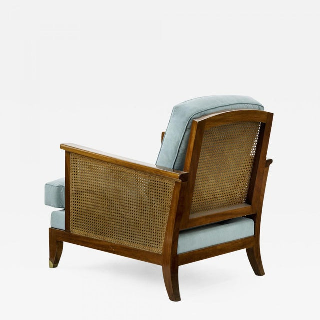 1950s Maurice Jallot Refined Caned Arm Chair(attributed) For Sale - Image 5 of 5