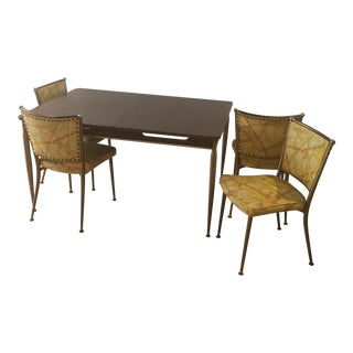 vintage used dining table chair sets chairish. Black Bedroom Furniture Sets. Home Design Ideas