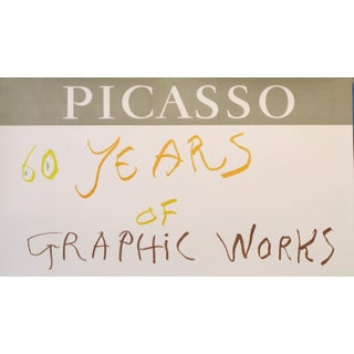 1966 Picasso Exhibition Poster, Los Angeles County Museum Preview