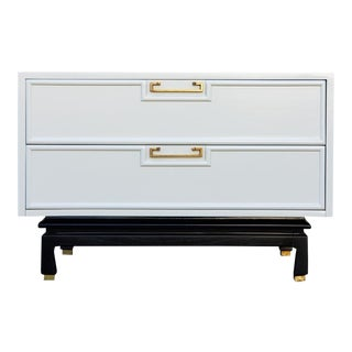 1960's Hollywood Regency Low Profile Nightstand For Sale