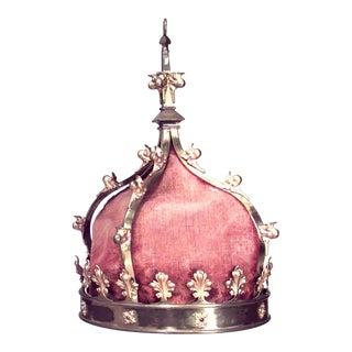 Italian Renaissance Style Crown Chandelier For Sale