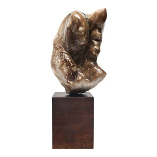 Abstract Soapstone Sculpture in Head Form For Sale