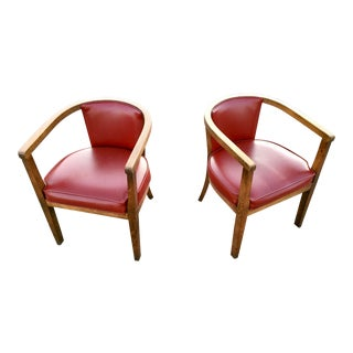Mid-Century Modern Thonet Style Bentwood Dining Chairs - a Pair For Sale