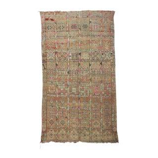 "Boujad Vintage Moroccan Rug, 5'10"" X 9'9"" For Sale"