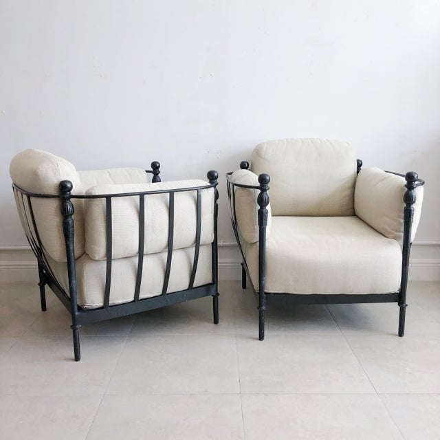 Pair Michael Taylor Montecito Outdoor Lounge Chairs For Sale - Image 9 of 9