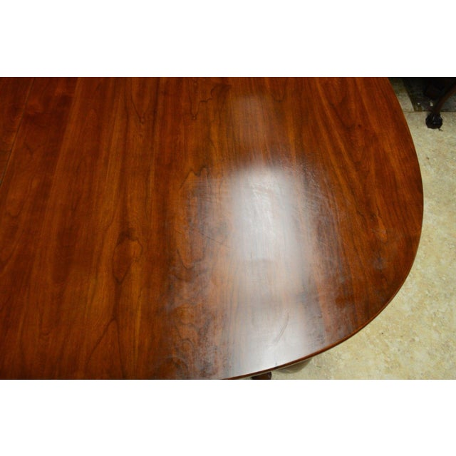 Henkel Harris Solid Cherry Queen Anne Style Dining Table For Sale - Image 5 of 11