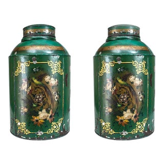 Victorian Tole Spice Canisters For Sale