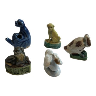 Mid 19th Century Antique Chinese Animal Figurines - Set of 5 For Sale