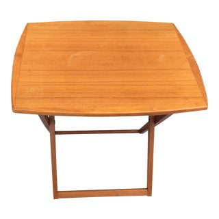 1960s Danish Modern Brdr Furbo Teak Folding Table For Sale