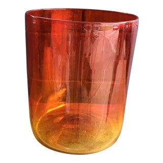 Vintage Amberina Cylinder Bowl/Vase For Sale