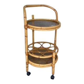 Vintage Bamboo Bart Cart For Sale