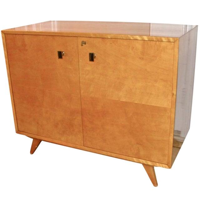 Swedish Flame Birch Cabinet - Image 1 of 7