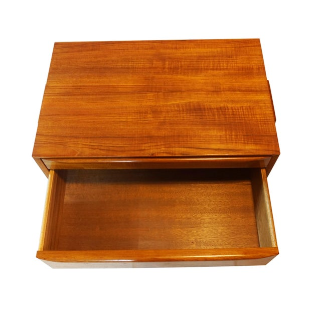 Teak Danish Modern Sewing Table / Side Table For Sale - Image 7 of 9