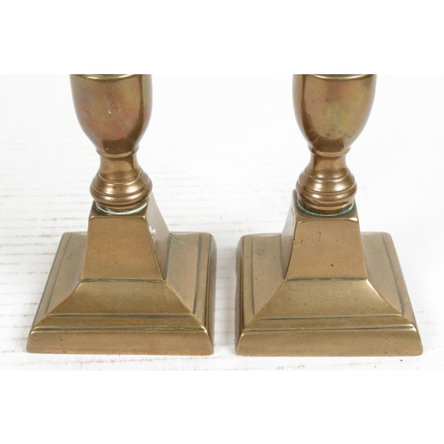 Antique Copper Candlesticks - a Pair For Sale - Image 5 of 6