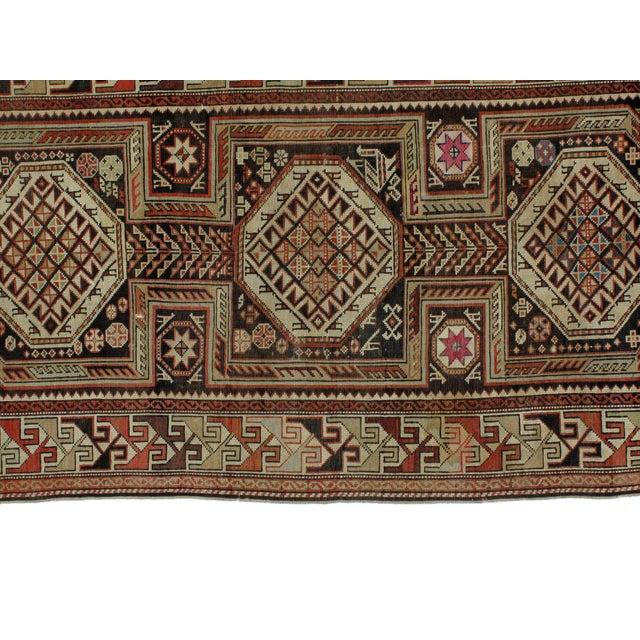 """Antique Leon Banilivi Caucasian Rug - 4'3"""" x 7'8"""" - Image 3 of 5"""
