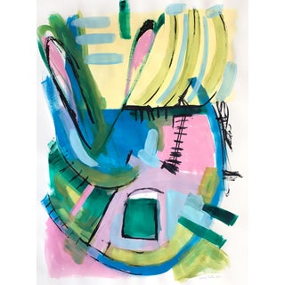 Jessalin Beutler Original Abstract Painting on Paper For Sale
