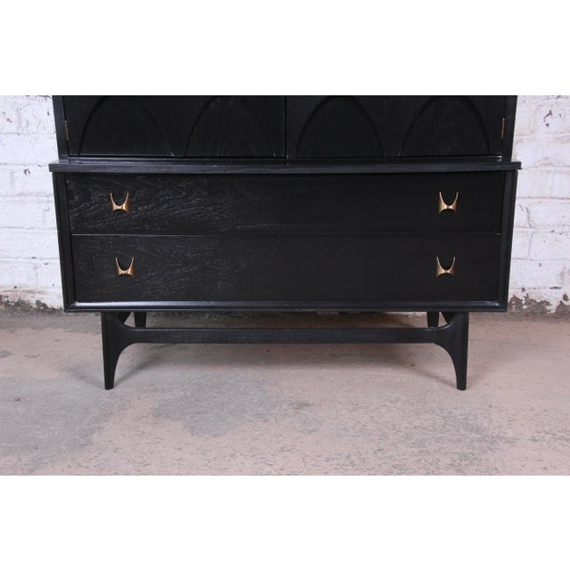 1960s Broyhill Brasilia Mid-Century Modern Ebonized Gentleman's Chest, 1966 For Sale - Image 5 of 13