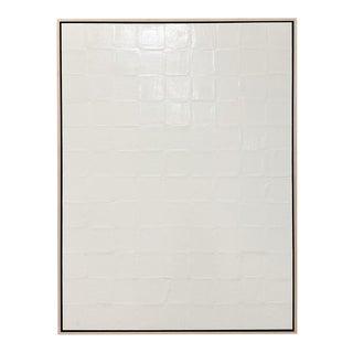 "Exclusive John O'Hara ""Bv, White"" Encaustic Painting For Sale"