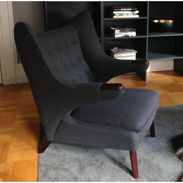 Replica Hans Wegner Style Gray Papa Bear Chair - Image 2 of 5