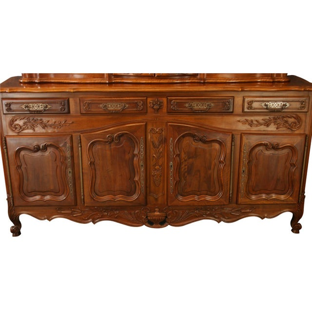 French Country Vintage French Country Walnut Sideboard For Sale - Image 3 of 8