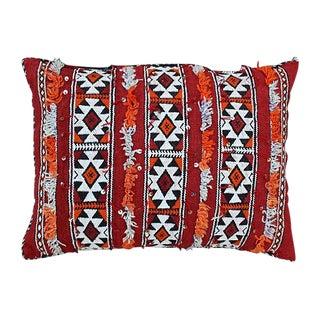 Diamonds Striped Moroccan Berber Pillow For Sale