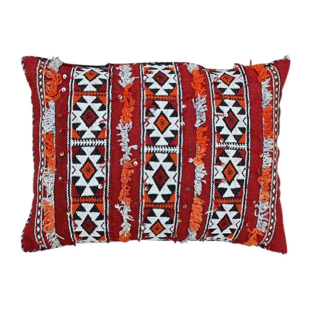 Diamonds Striped Moroccan Berber Pillow - Image 1 of 2