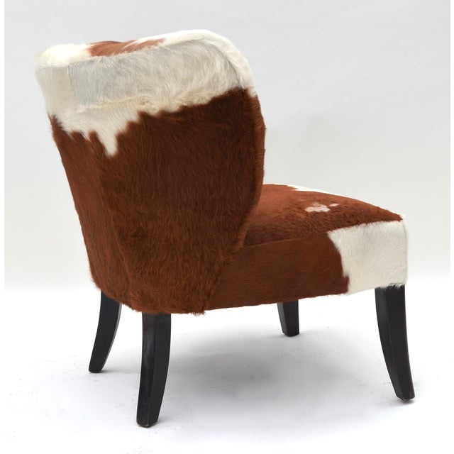 Americana Vintage Cowhide Chair For Sale - Image 3 of 9