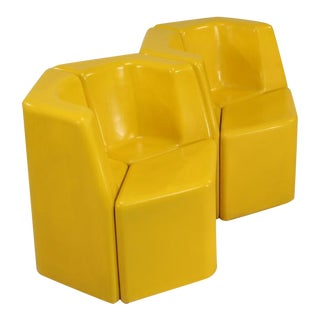 Stolle Group rare outdoor set in yellow, the Netherlands, 1960s For Sale
