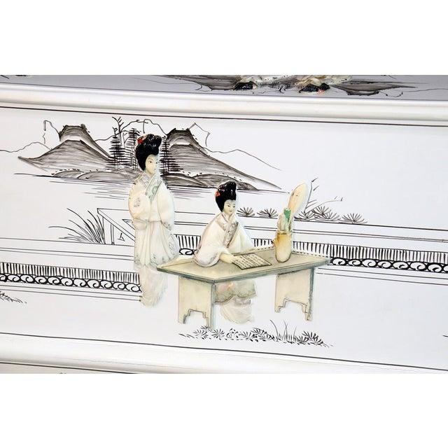 White Chinoiserie Carlton House Desk For Sale - Image 11 of 13