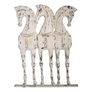 Vintage Mid-Century Frederick Weinberg Horse Wall Sculpture For Sale