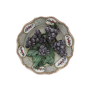 Antique French Faience Trompe-L'œil Plates of Grapes