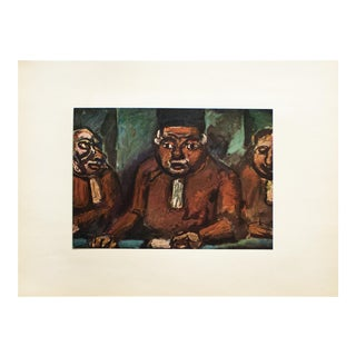 "1950s Georges Rouault, ""Three Judges"" Original Period Lithograph For Sale"