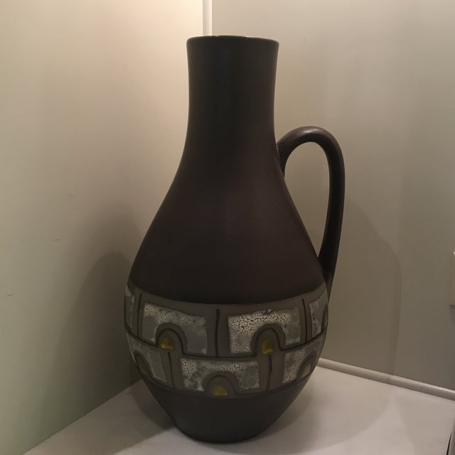 1960s Mid Century Modern Austrian Ceramic Pottery Pitcher For Sale In Atlanta - Image 6 of 6