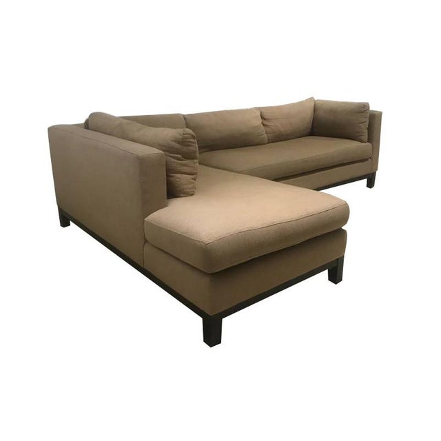 Crate & Barrel Sectional Sofa For Sale - Image 9 of 11