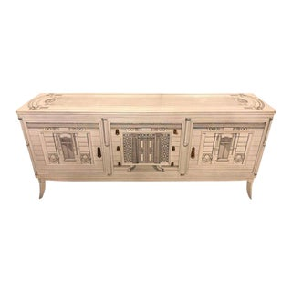 Paint Decorated Fornasetti Style Sideboard or Cabinet, circa 1960s For Sale