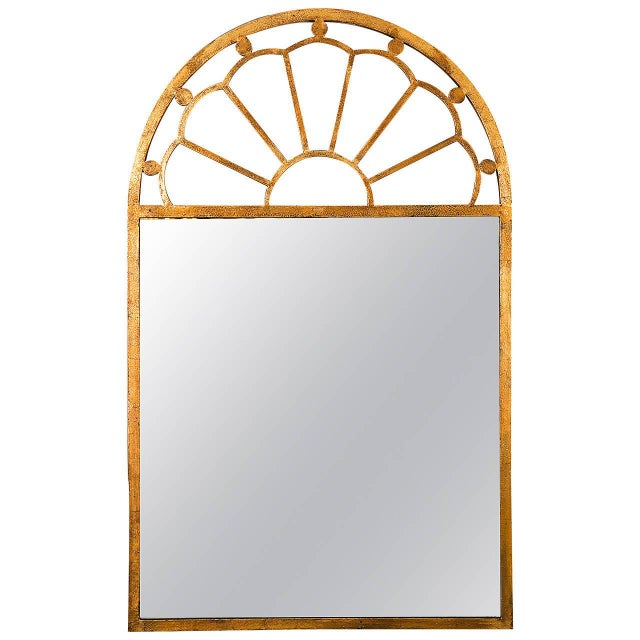 Gilt Encrusted Iron Arch Mirror - Image 1 of 5