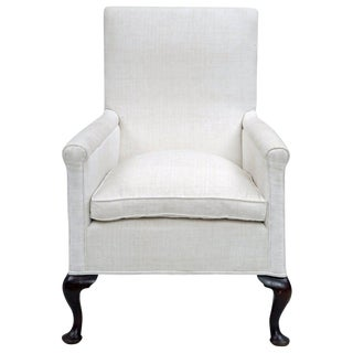 Upholstered High Backed Armchair, circa 1860 For Sale