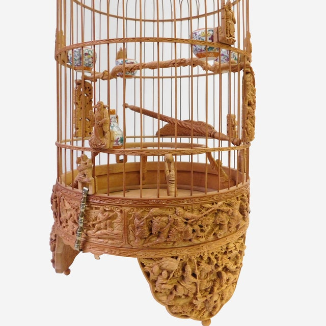 Bamboo Warfield Carving Birdcage - Image 6 of 10