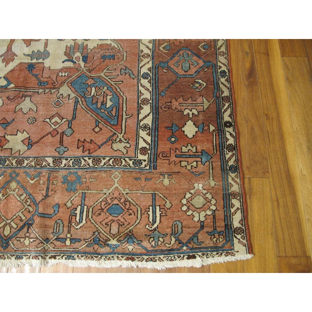 Islamic Antique Persian Serapi Rug For Sale - Image 3 of 6