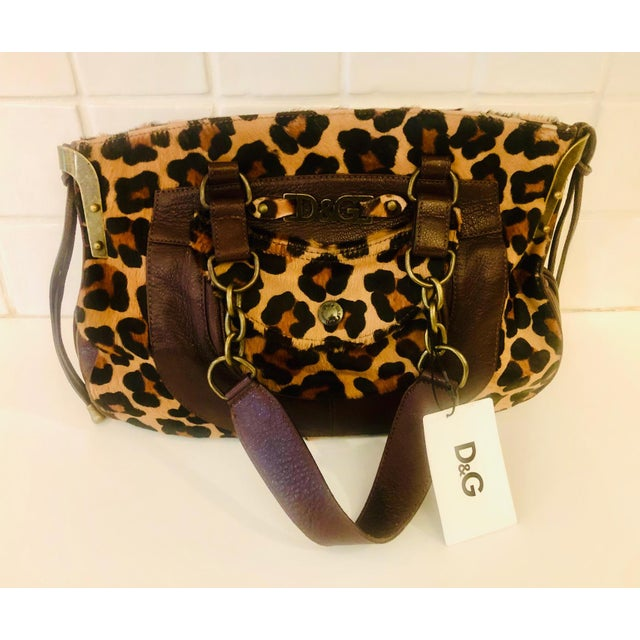 Dolce & Gabbana D & G Leopard Fur Satchel Purse For Sale - Image 10 of 10