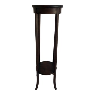 1920s Tall Mahogany Plant Stand For Sale