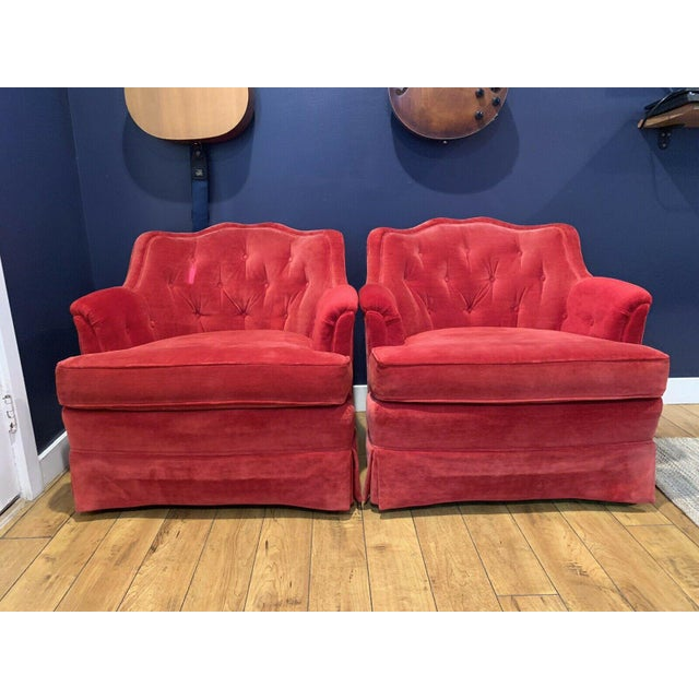Mid-Century Henredon Fine Furniture Accent Chairs - a Pair For Sale - Image 9 of 9