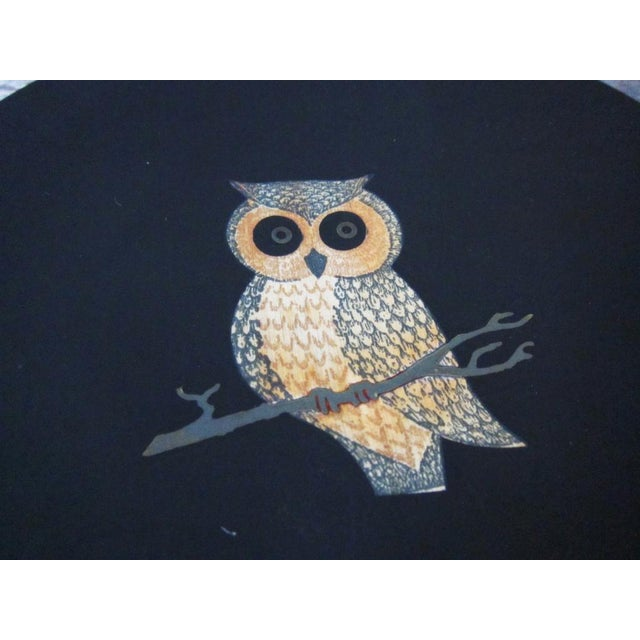 The Couroc Company Vintage Couroc of Monterey Owl Dish For Sale - Image 4 of 9