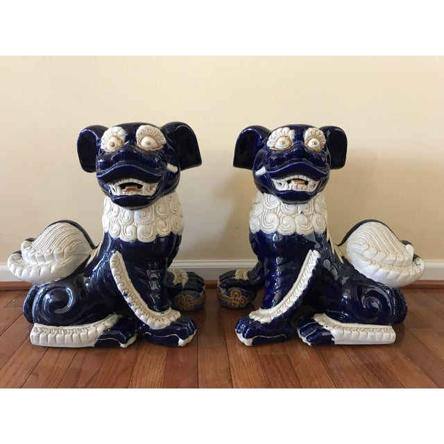 20th Century Chinoiserie Foo Dogs - a Pair For Sale - Image 12 of 12