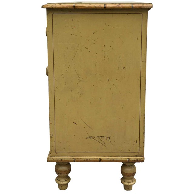Boho Chic 19th Century Boho Chic Style Painted Chest For Sale - Image 3 of 6